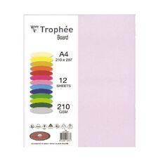 Trophee Board 210gsm 12 Pack Lilac Purple A4