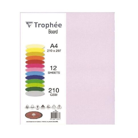 Trophee Board 210gsm 12 Pack Lilac Purple A4
