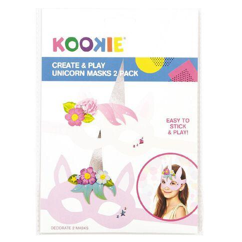 Kookie Create and Play Unicorn Masks 2 Pack