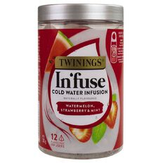 Twinings Infuse Cold Water Infusion Watermelon Strawverry & Mint 12 Pack