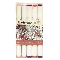 Colouring Marker Floral 5 Pack