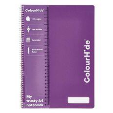 ColourHide Notebook 120 Pages Purple A4