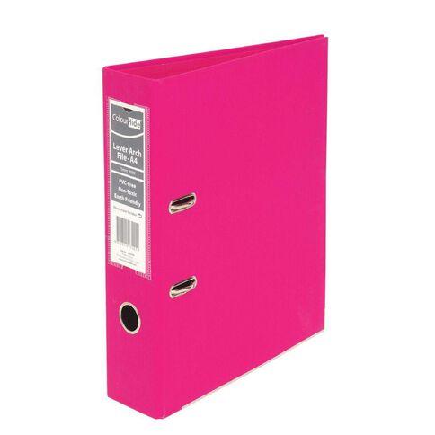 ColourHide Linen Lever Arch File Pink A4