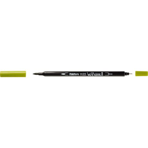 MARVY Le Plume II Dual Tip Marker Jungle Green