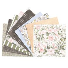 Rosie's Studio Briarwood 6x6 Designer Paper Pad 40 sheet FSC Mix