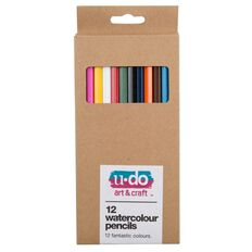 U-Do Watercolour Pencils 12 Pack