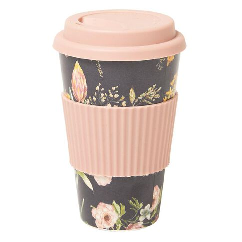 Living & Co Bamboo Travel Cup Floral 500ml