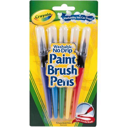 Crayola Washable Paint Brush Pens Multi-Coloured 5 Pack