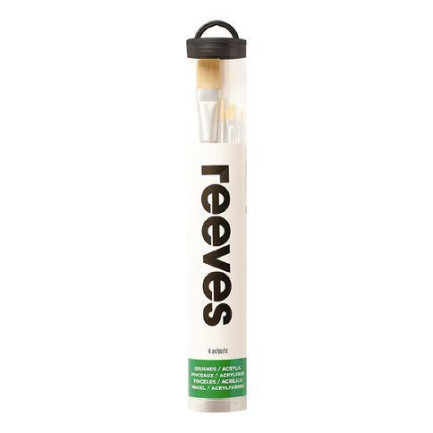 Reeves Acrylic Short Handle Brush Set of 4