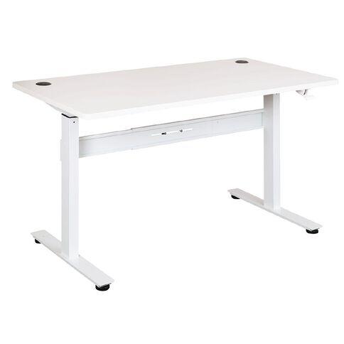 Jasper J Emerge 1500 Straight Pneumatic Desk White/White