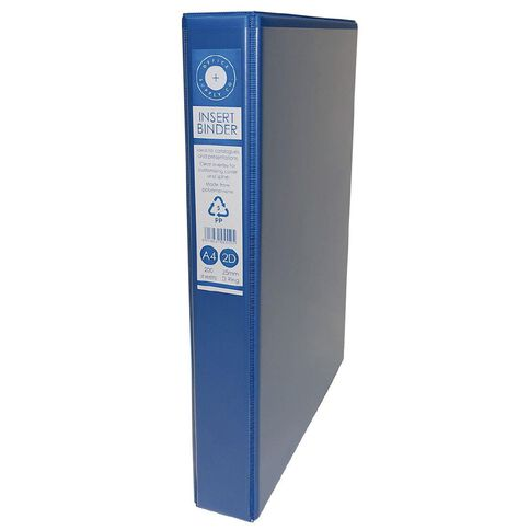 Office Supply Co 2D Ringbinder Overlay Blue A4 | Warehouse
