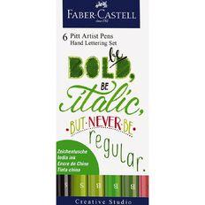Faber-Castell Pitt Artist Hand Lettering Pens Be Bold 6 Pack