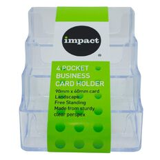 Impact Business Card Holder Free Standing Landscape