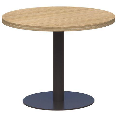 Classic Coffee Table Black & Classic Oak 600 Diameter