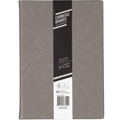 Dats Diary 2020 Day To Page PVC Embossed Assorted A4