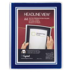 Grant Studios Headline View Clear Book Overlay 20 Leaf Blue A4