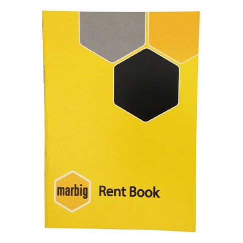 Marbig Rent Book Yellow A5