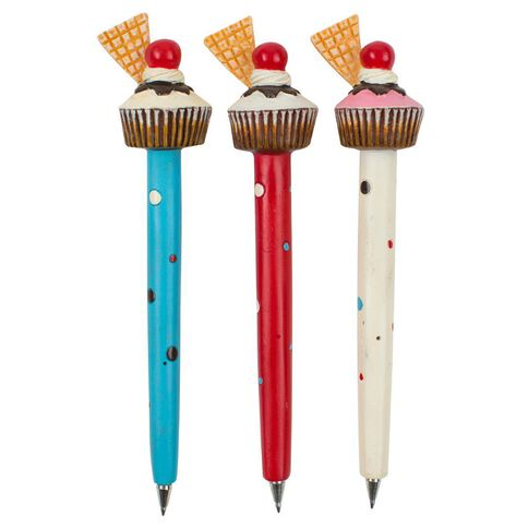 Novelty Pen Cupcakes Wafer Assorted