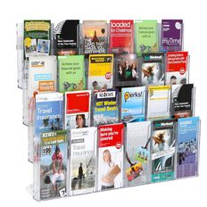 Deflecto Brochure Holder Lit Loc Wall Rack Kit 24 x DLE