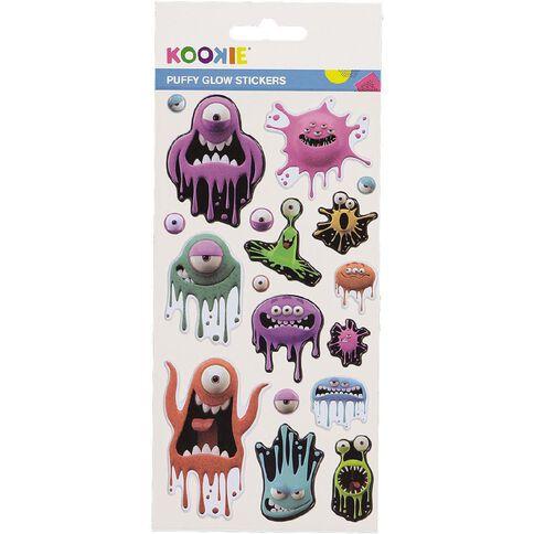 Kookie Sticker Sheet Puffy Glow in the Dark 3 Assorted