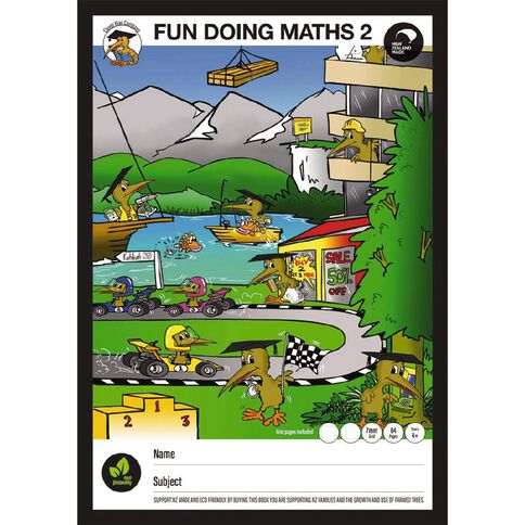 Clever Kiwi Fun Doing Maths Book 2 Year 4 plus