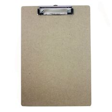 Hardboard Clipboard Brown A4