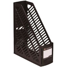 Office Supply Co Folding Magazine File Black