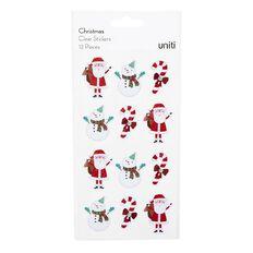 Uniti Christmas PVC Stickers Novelty 12 Pieces