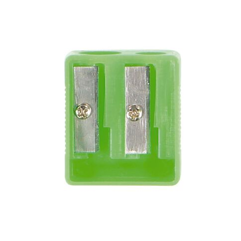 WS Pencil Sharpener 2 Hole Plastic Assorted