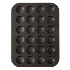 Living & Co Heavy Gauge Non Stick Mini Muffin Tray 24 Cup