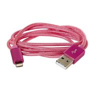 Lightning Cable Braided 1m New Craft Pink