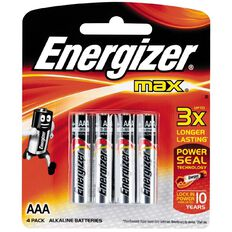 Energizer Max Batteries  AAA 4 Pack
