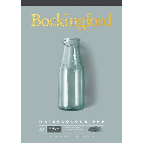 Bockingford Watercolour Pad 300gsm Yellow A3