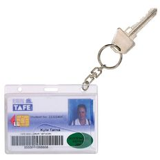 Rexel Driver Licence Holder With Key Ring Clear