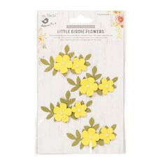 Little Birdie Flower Sticker Pearly Bluma Sunglow 4 Piece