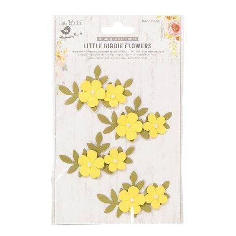 Little Birdie Flower Sticker Pearly Bluma Sunglow 4 Piece