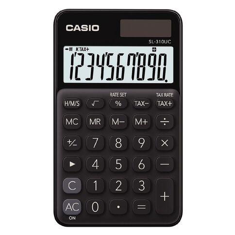 Casio SL310UCBK Hand Held 10 Digit Calculator Black