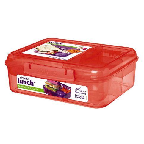 Sistema Bento Box Lunch Tint Assorted 1.65L