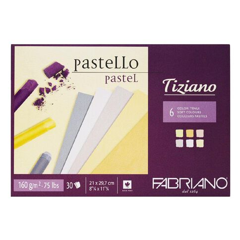 Fabriano Tiziano Pastel Art Pad Soft Colours 160GSM A4