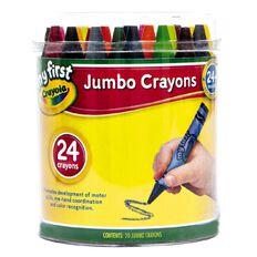 Crayola My First Jumbo Crayons Tub 24 Pack