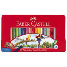 Faber-Castell Watercolour Sketch Set Of 60 Multi-Coloured