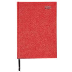 WS Diary 2021 Day To Page Red A5 Red A5