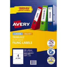 Avery Laser Labels L7171-4 Lever Arch Pack 25