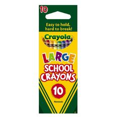 Crayola Large School Crayons 10 Pack