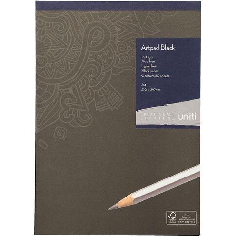 Uniti Platinum Artpad Black A4