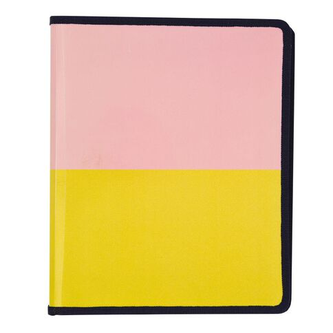 Uniti Fun & Funky Zip Folder With 2 Ring Clip Pink and Yellow A4