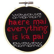 NZ Embroidery Haere Mai 19cm x 15cm