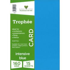 Trophee Card 160gsm 15 Pack Intensive Blue A4