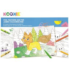 Kookie Jumbo Colouring Pad Animals 25 Sheet A3