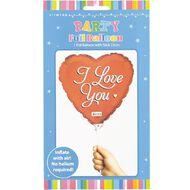 Artwrap Love Foil Balloon with Stick 22cm